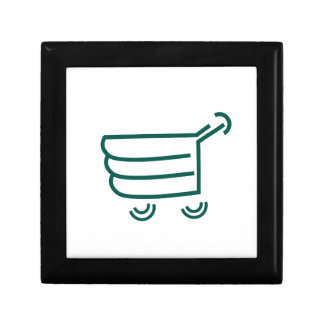 abstract shopping cart gift boxes