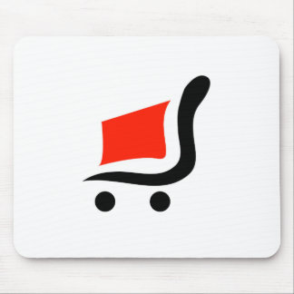 abstract shopping cart mouse pad