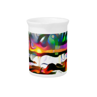 Abstract shore beverage pitcher