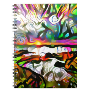 Abstract shore notebook