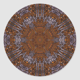 Abstract Silver and Copper Kaleidoscope Stickers