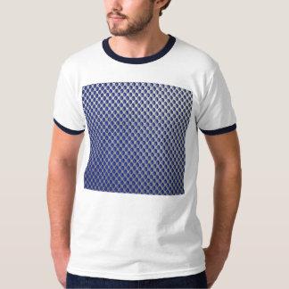 Abstract Silver Blue Metal Polka Dots Pattern. T-shirts