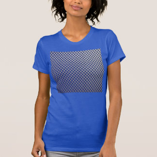 Abstract Silver Blue Metal Polka Dots Pattern. Tee Shirt