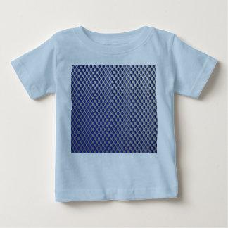 Abstract Silver Blue Metal Polka Dots Pattern. Tees