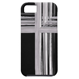 Abstract Silver Christian Cross iPhone SE/5/5s Case