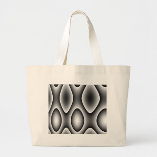 Abstract Silver Design Large Tote Bag