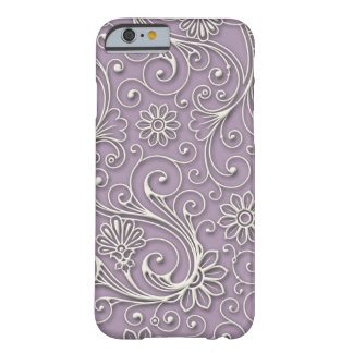 Abstract Silver Floral Barely There iPhone 6 Case