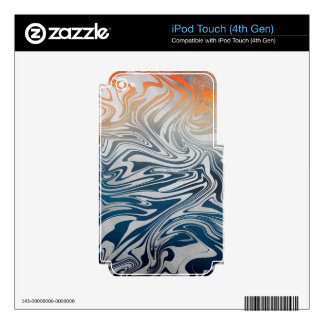 Abstract silver liquid pattern iPod touch 4G skin