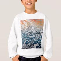Abstract silver liquid pattern sweatshirt