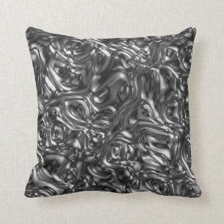 Abstract Silver Sand Throw Pillow