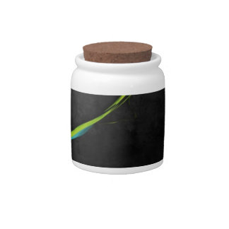 Abstract Simple Green Line Across Candy Jar