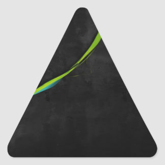 Abstract Simple Green Line Across Triangle Stickers
