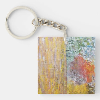 Abstract Single-Sided Square Acrylic Keychain