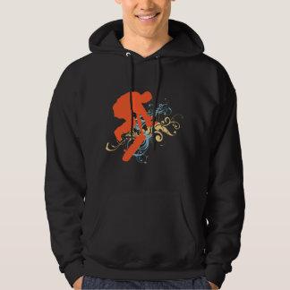 Abstract skateboarding hoodie