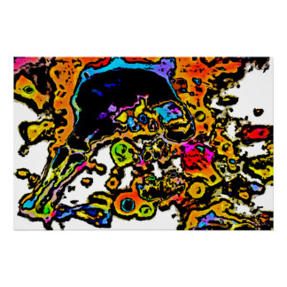 Abstract Skeleton Poster/Print Poster