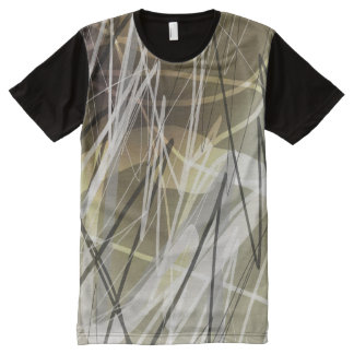 Abstract Sketch Expression All-Over Print T-shirt