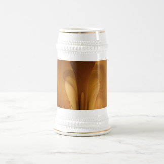 Abstract Skincare Warm Brown 18 Oz Beer Stein