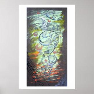 Abstract Skull 20x30 Print