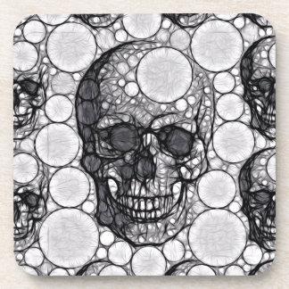 Abstract Skull&bone Abstract Beverage Coaster
