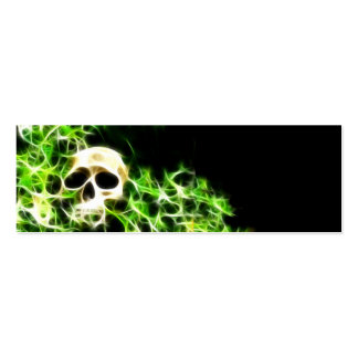 Abstract skull bookmark Double-Sided mini business cards (Pack of 20)