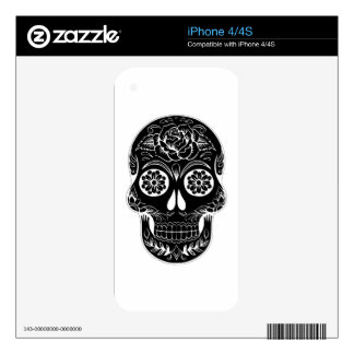 Abstract Skull Decal For iPhone 4