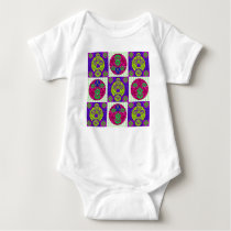 Abstract Skull Pattern Design Baby Bodysuit