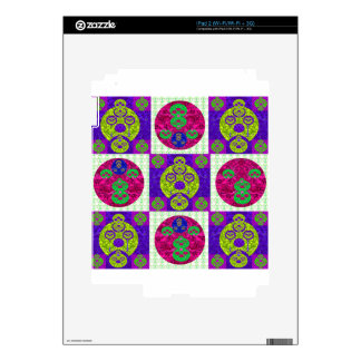 Abstract Skull Pattern Design iPad 2 Decal