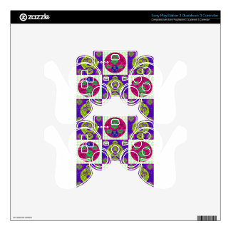 Abstract Skull Pattern Design Skin For PS3 Controller