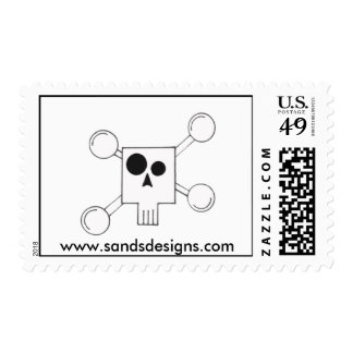 Abstract skull stamps