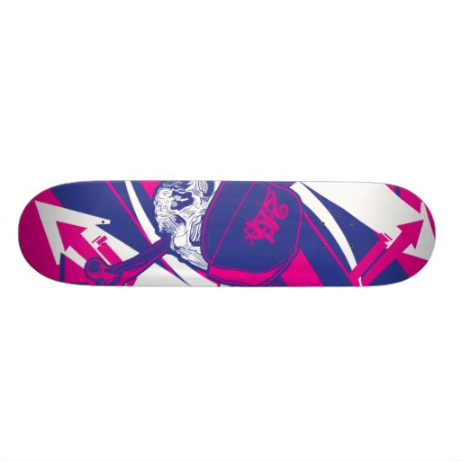 Abstract Skull Skateboard Deck