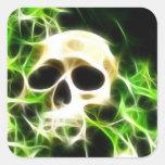 Abstract skull square sticker