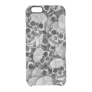 Abstract SKULLS Clear iPhone 6/6S Case