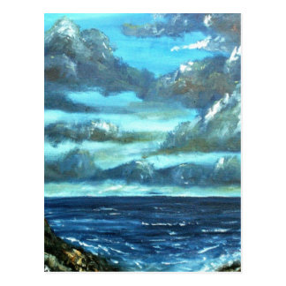 abstract sky seascape oil painting postcard