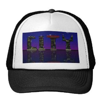 Abstract skyline. trucker hat