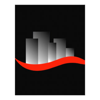 Abstract skyscrapers letterhead