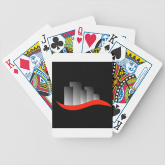 Abstract skyscrapers bicycle playing cards