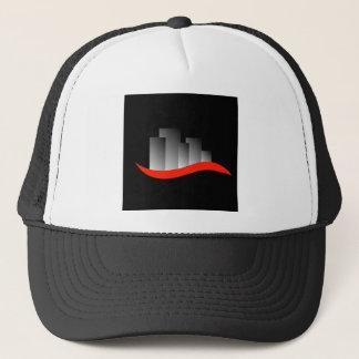 Abstract skyscrapers trucker hat