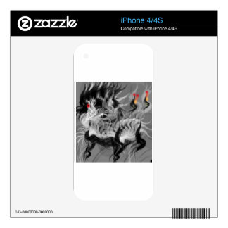 Abstract Small Dog Decal For The iPhone 4
