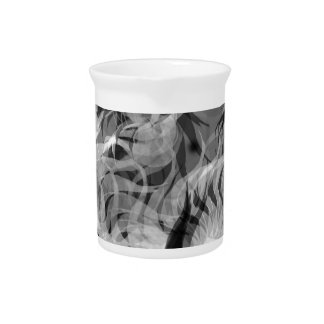Abstract Small Dog Drink Pitcher
