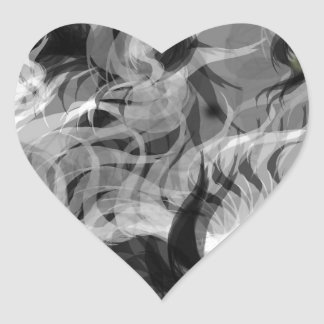 Abstract Small Dog Heart Sticker