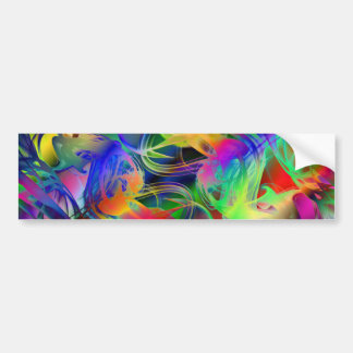 Abstract Smoke Art Bumper Sticker