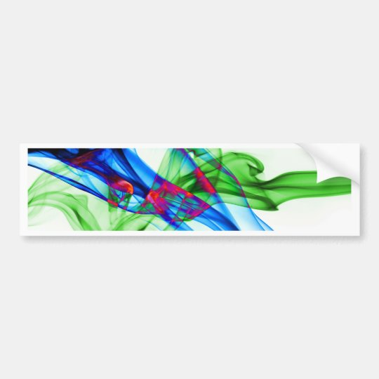 Abstract Smoke Art Photography Bumper Sticker