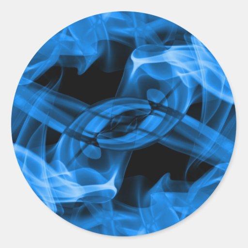 Abstract Smoke Art Photography Classic Round Sticker