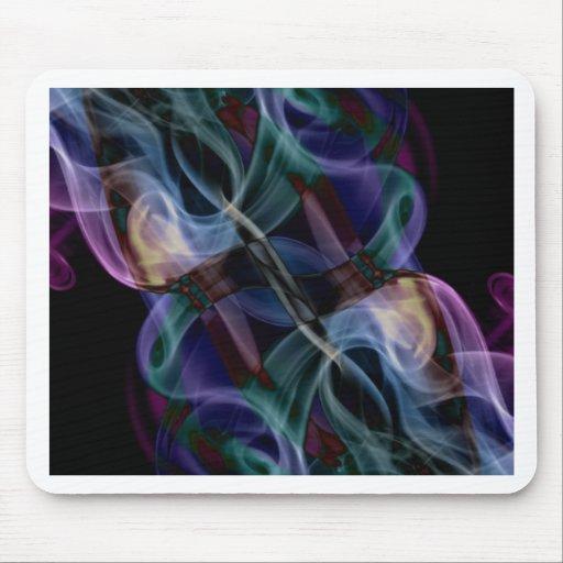 Abstract Smoke Art Photography Mouse Pad