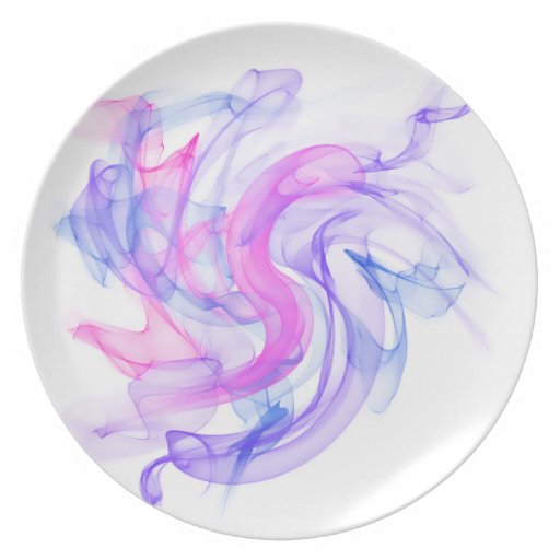 Abstract  Smoke on the Water Party Plates