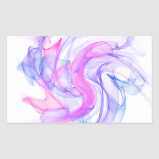 Abstract  Smoke on the Water Rectangular Sticker