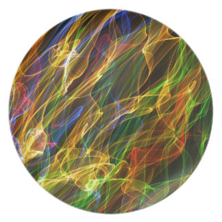 Abstract Smoke Dinner Plates