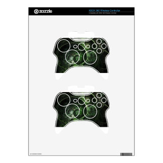 Abstract Snake Skin Green Xbox 360 Controller Skin
