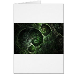 Abstract Snake Skin Green Card