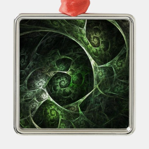Abstract Snake Skin Green Christmas Ornament